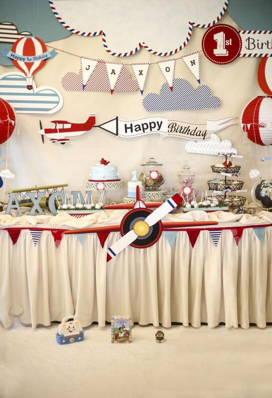 Airplane theme - The Event Planet