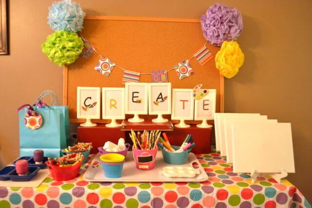 Art and Craft theme for Girls- The Event Planet