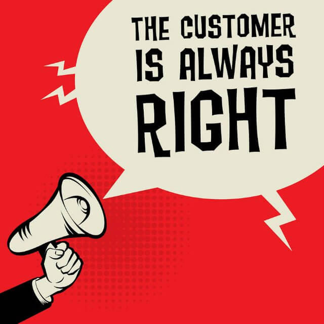 The customer is always right - The Event Planet